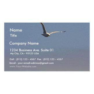 Cielo de las nubes de las gaviotas tarjeta de visita
