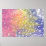 Cielo de las rayas y de las perlas del arco iris impresiones