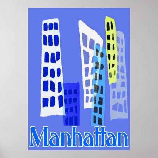 Cielo de Manhattan Póster