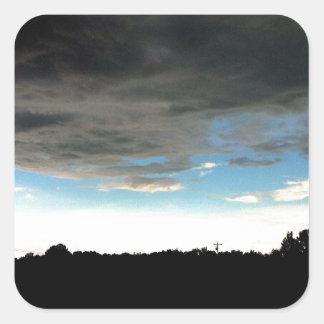 Cielo de Mississippi Calcomania Cuadradas