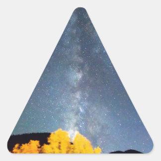 Cielo de octubre de la vía láctea pegatinas trianguladas