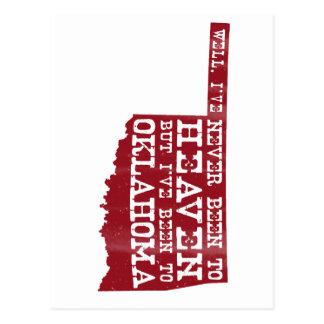 Cielo de Oklahoma - rojo Tarjetas Postales