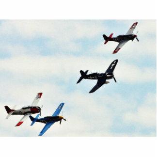 Cielo de Ons de cuatro aviones Fotoescultura Vertical