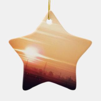 Cielo de oro ornamento de navidad