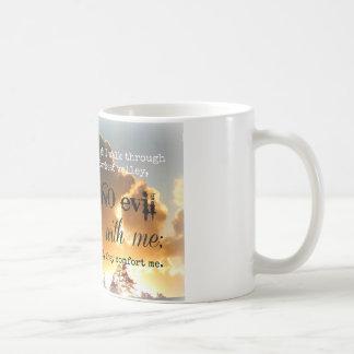 Cielo de oro del 23:3 del salmo taza de café