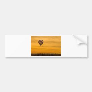 Cielo de oro del globo del aire caliente pegatina para auto