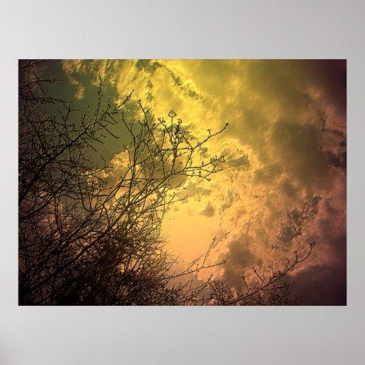 Cielo de oro sobre la isla del centro, Toronto V8 Poster