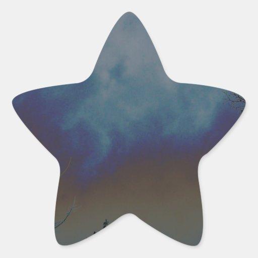 Cielo de Psychadelic Pegatina Forma De Estrella Personalizada