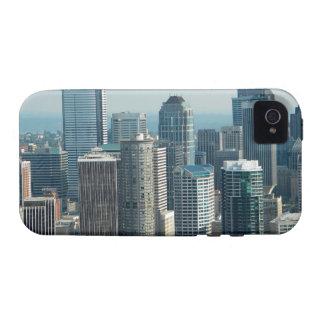 Cielo de Seattle iPhone 4 Carcasas