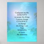 Cielo de septiembre del rezo de la serenidad posters