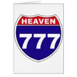"""Cielo """"de un estado a otro"""" 777 felicitacion"""