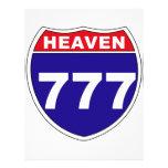 """Cielo """"de un estado a otro"""" 777 membrete"""