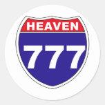 """Cielo """"de un estado a otro"""" 777 pegatinas redondas"""