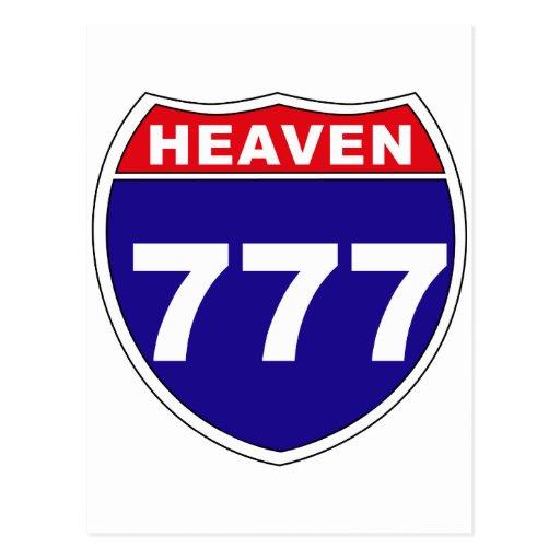 "Cielo ""de un estado a otro"" 777 tarjeta postal"