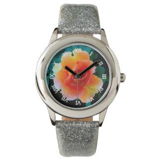 Cielo del albaricoque relojes de pulsera