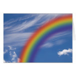 Cielo del arco iris felicitacion