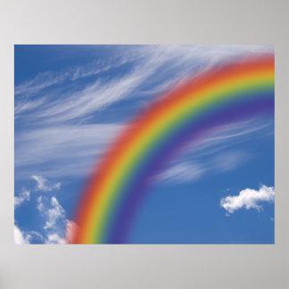 Cielo del arco iris póster