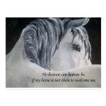 Cielo del caballo tarjeta postal