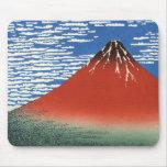 Cielo del claro del viento del sur, Fuji rojo, Kat Alfombrillas De Raton