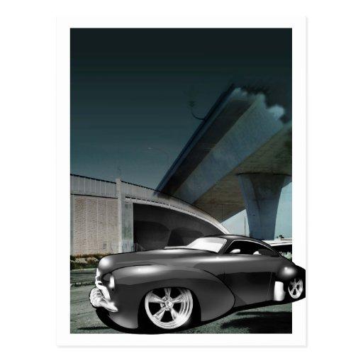 Cielo del coche de carreras (frontera) tarjeta postal