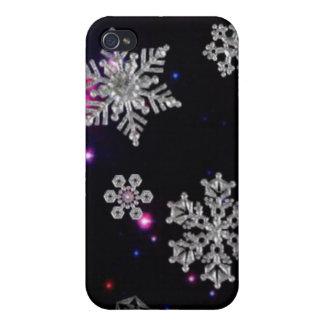 Cielo del copo de nieve iPhone 4 carcasas