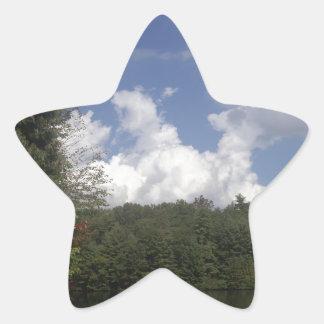 Cielo del desierto pegatina en forma de estrella