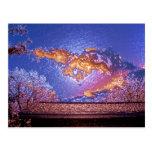 cielo del envoltorio de plástico tarjetas postales