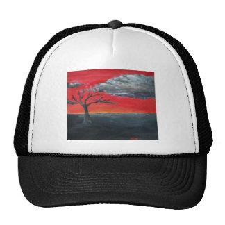 Cielo del escarlata gorras de camionero
