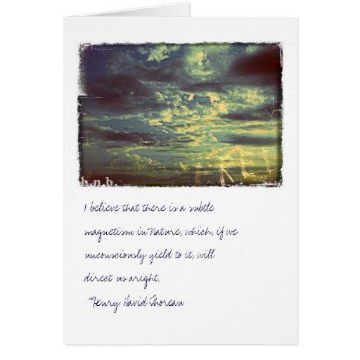 Cielo del espíritu libre y tarjeta de nota de las