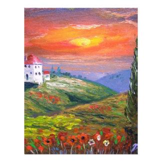 Cielo del fuego de Toscana