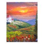 Cielo del fuego de Toscana Plantillas De Membrete
