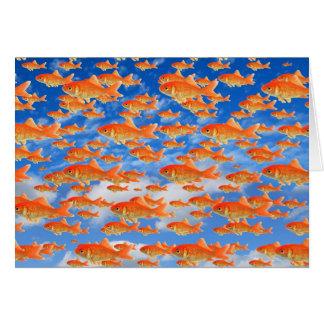 Cielo del Goldfish Tarjeta