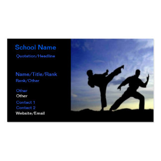 Cielo del karate tarjetas de visita