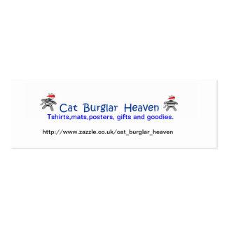 Cielo del ladrón de gato tarjetas de visita mini