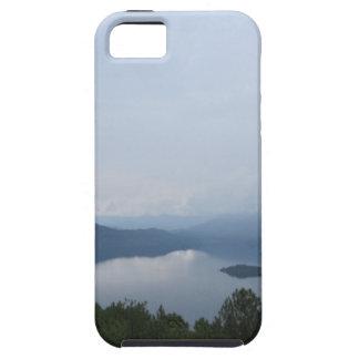 cielo del lago iPhone 5 carcasas