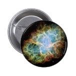 Cielo del negro del universo de la galaxia de la e pin redondo 5 cm