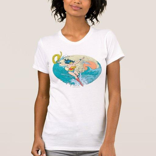 Cielo del océano de la Mujer Maravilla Camisetas