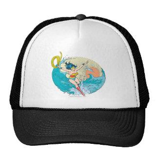 Cielo del océano de la Mujer Maravilla Gorras