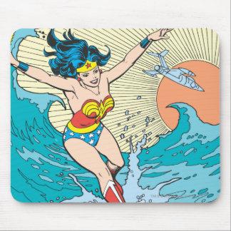 Cielo del océano de la Mujer Maravilla Mouse Pad