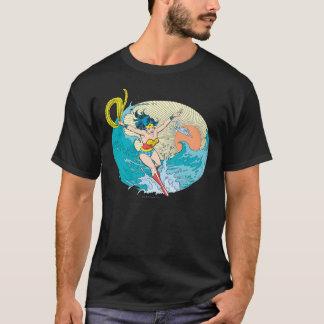 Cielo del océano de la Mujer Maravilla Playera