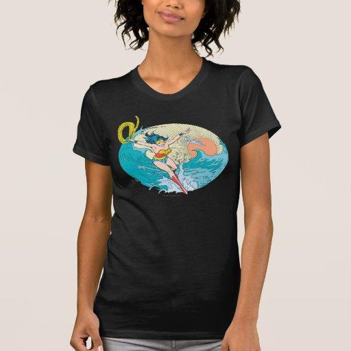 Cielo del océano de la Mujer Maravilla Remeras