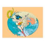 Cielo del océano de la Mujer Maravilla Tarjeta Postal