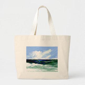 Cielo del paisaje marino del arte del océano de la bolsa de mano