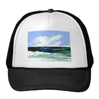 Cielo del paisaje marino del arte del océano de la gorras de camionero