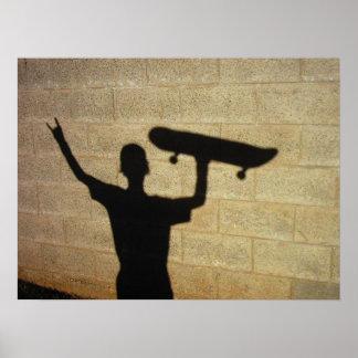 Cielo del patinador póster