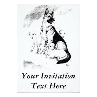 """Cielo del perro invitación 5"""" x 7"""""""