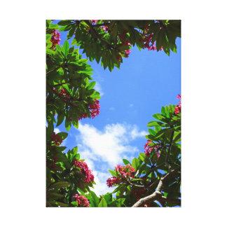Cielo del Plumeria Impresión En Lienzo