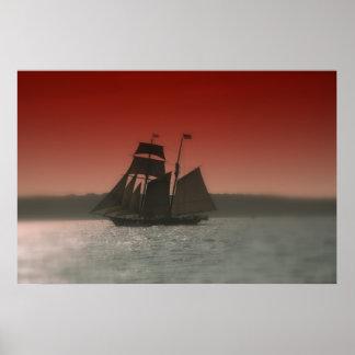 Cielo del rojo de Shenandoah Póster