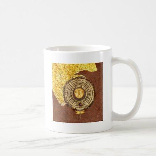 Cielo del solsticio - collage taza clásica