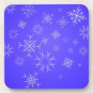 Cielo delicado del copo de nieve posavaso